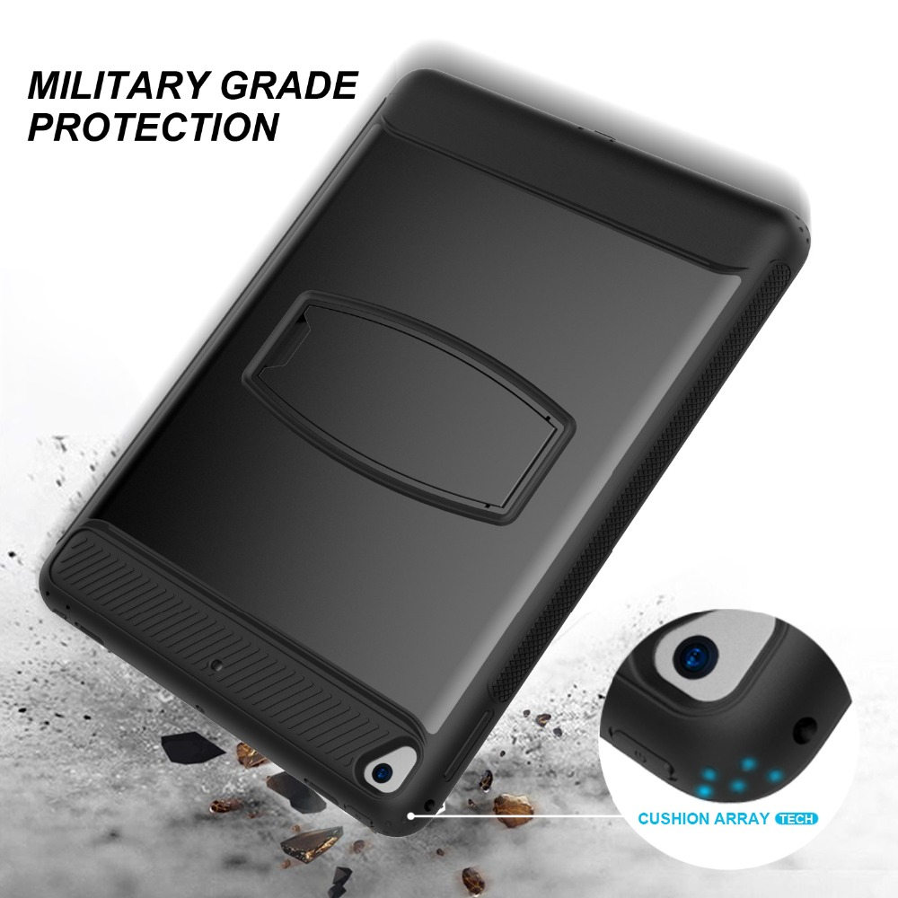 Shockproof Hybrid Rubber Rugged Hard Impact Protective Skin Shell Case For IPad 9.7 2017 2018 / 5 / 6 / Air / Air 2 / Pro 9.7