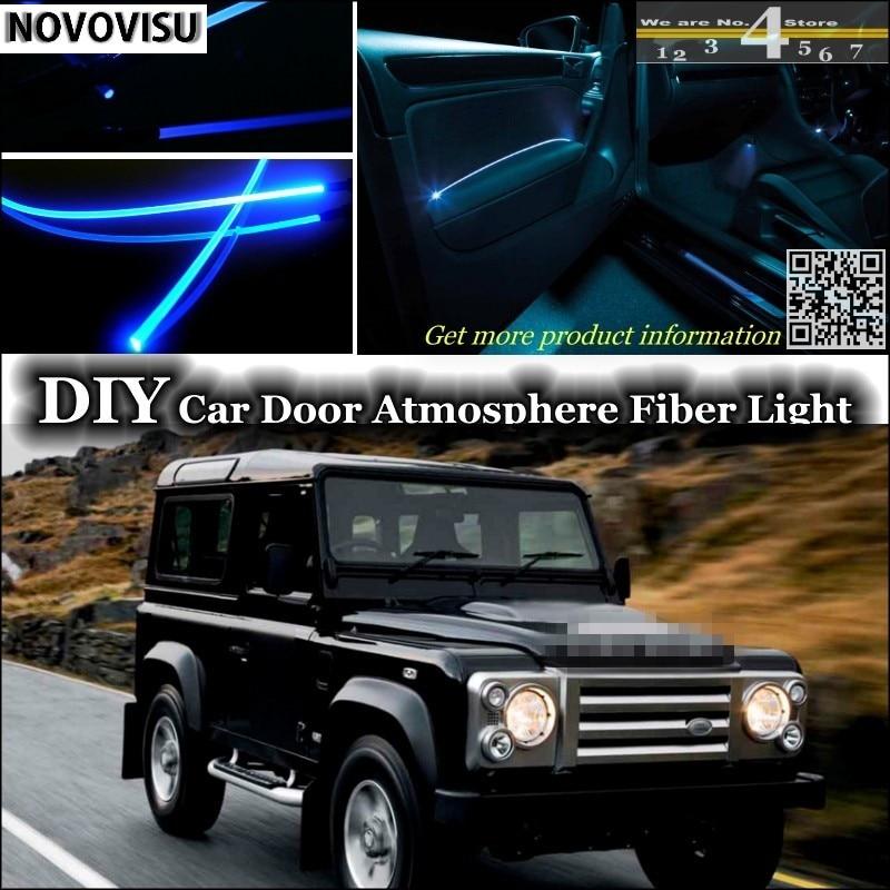 NOVOVISU For Land For Rover Defender 90 110 Ninety One Ten interior Ambient Light Atmosphere Fiber Optic Band Lights Door Panel