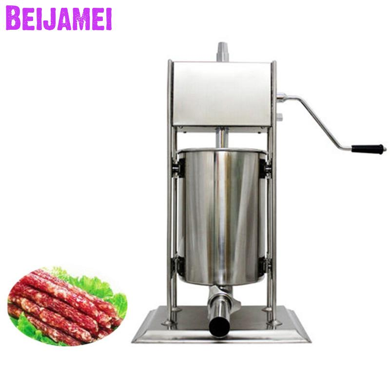 BEIJAMEI 15L Stainless Steel Vertical Sausage Filler Stuffer Price, Home Commercial Sausage Making MachineBEIJAMEI 15L Stainless Steel Vertical Sausage Filler Stuffer Price, Home Commercial Sausage Making Machine