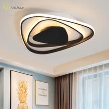 Треугольники черный/белый современный светодиодный Люстра для гостиной исследование, спальни, кухни, сплошные украшения комнатная Потолочная люстра освещение