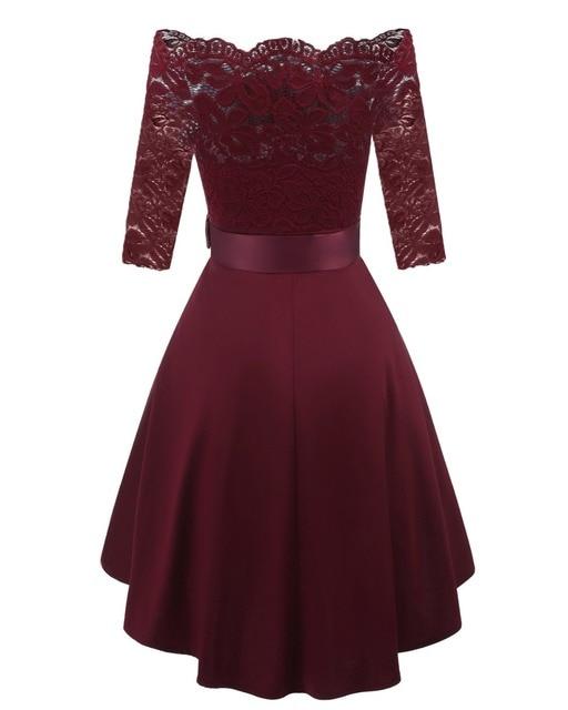 Купить женское короткое коктейльное платье кружевное трапециевидное картинки
