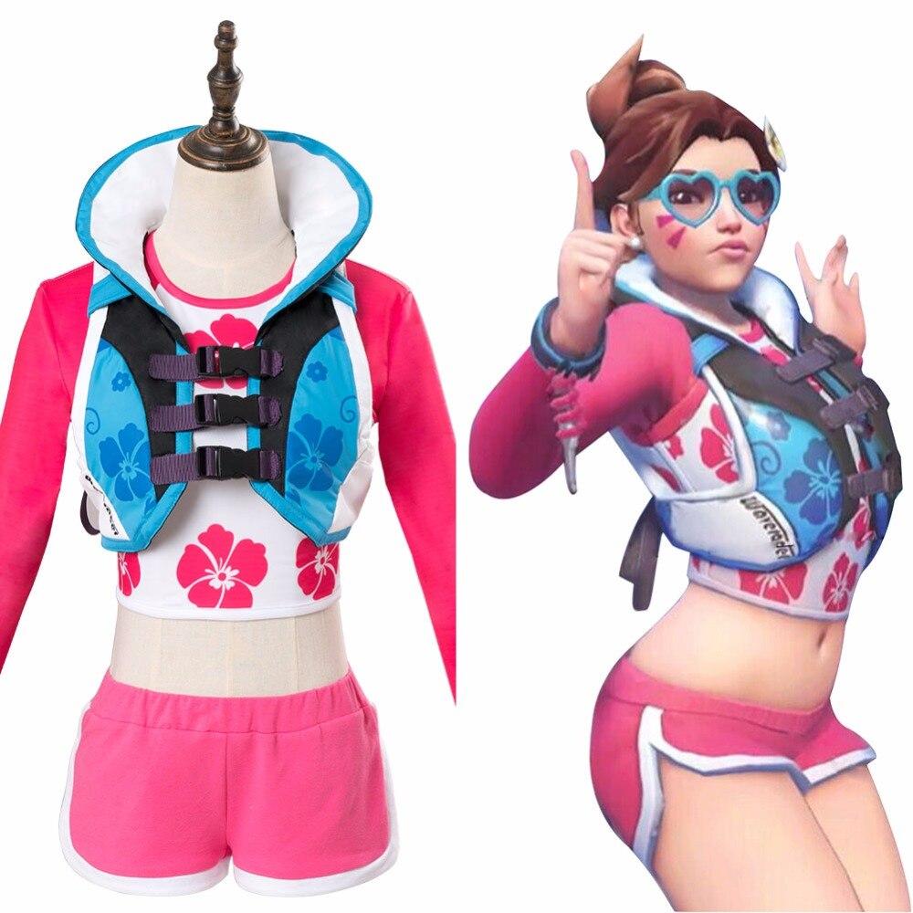 OW D.Va DVA Hana Song Cosplay Costume Waveracer Skin Outfit Glasses Women Girls Halloween Carnival Costumes Custom Made