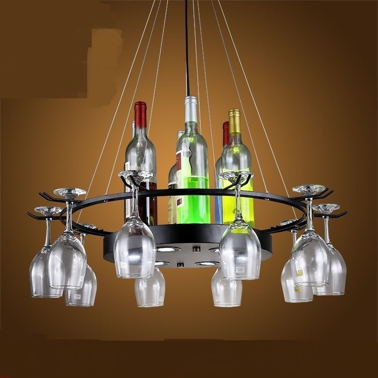 Retro industry personality glass bottle  Restaurant Bar Cafe Table clothing store retro iron industrial pendant light ZH GY219 neon sign for donuts bar cakes cave real glass tube beer pub restaurant signboard store display shop light signs 17 14