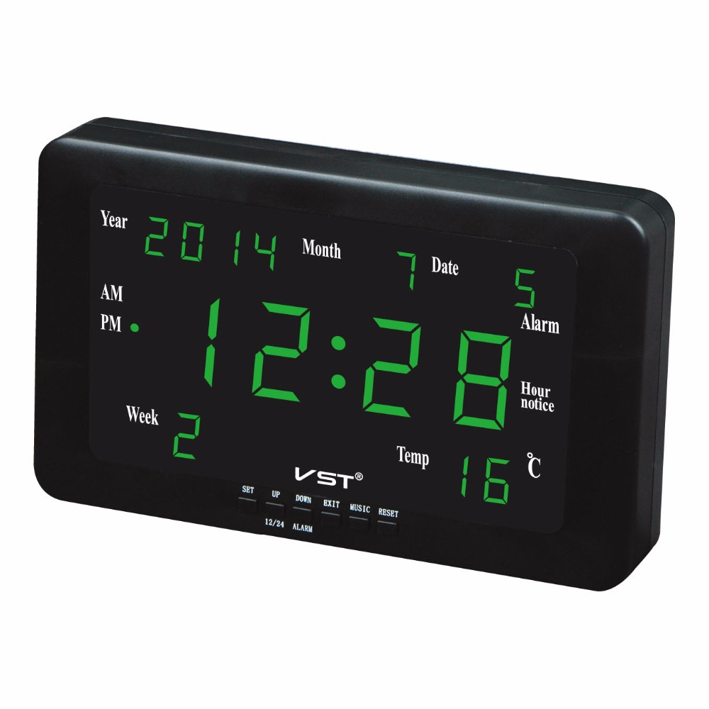 Multifunction led all ages calendar clocks Large numbers ...