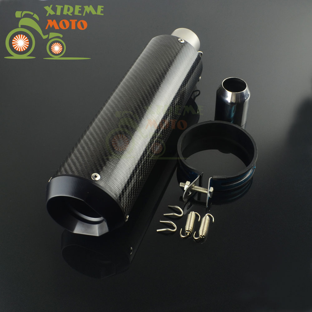 Motorcycle 38MM 51MM Exhaust Pipe Muffler Carbon Fiber Pipe For HONDA YAMAHA CBR250 CB400 NINJA 250 Scooter Street bike laser mark motorcycle modified muffler sc carbon fiber exhaust pipe for benelli bn600 bn302 tnt300 tnt600 bn tnt300 302 600 gt