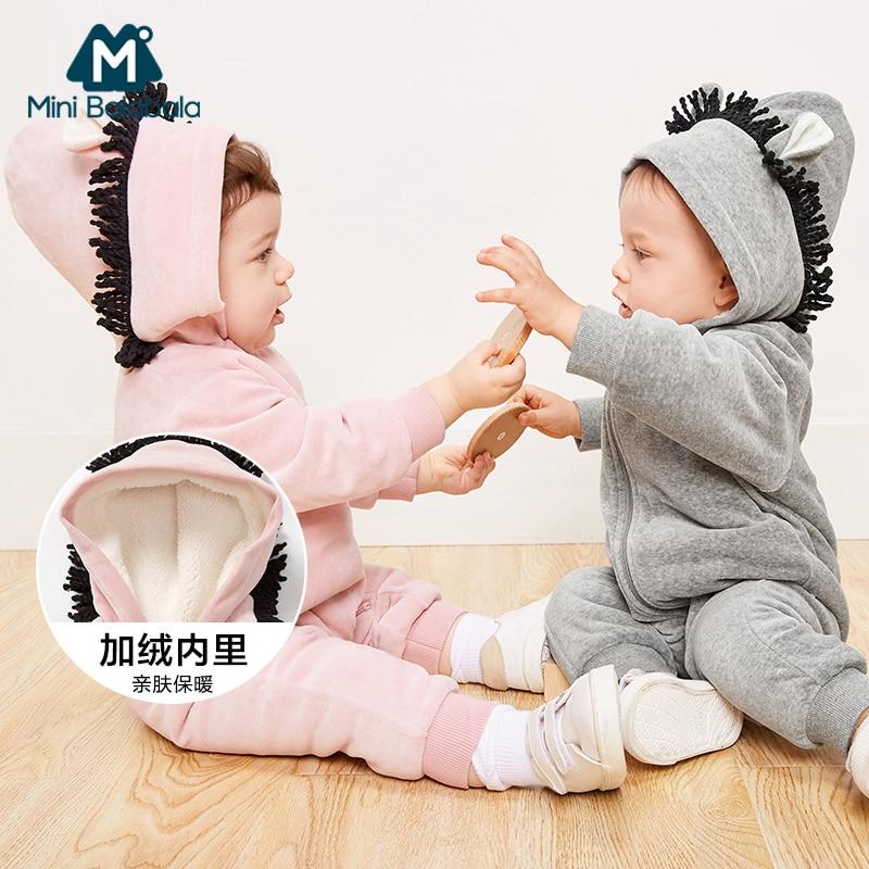Hot Autumn Winter Baby Boys Cotton Romper Newborn Hoodies Jumpsuit 2019 New Arrival Baby Boys Clothes For Newborns 3 24M