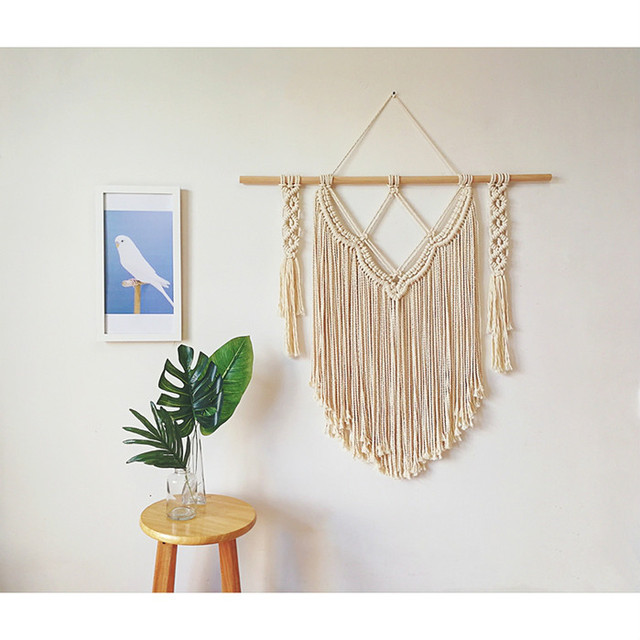 50cm x 60cm Indian Macrame Tapestry Mawgie