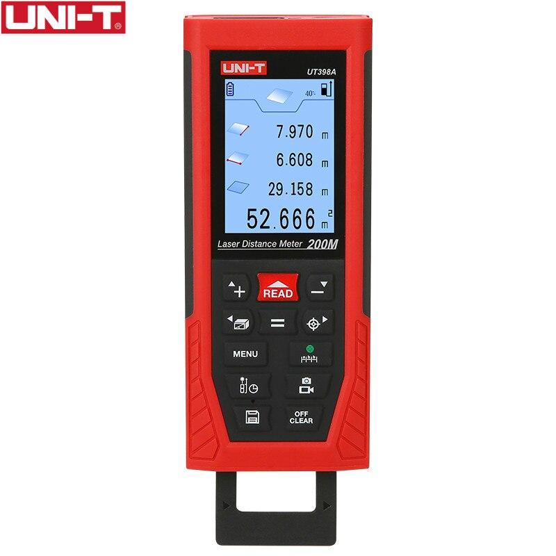 UT398A 200m Rangefinder Laser Distance Meters Lofting Test Levelling Instrument Area Volume UDISK 16GB & JPEG storage