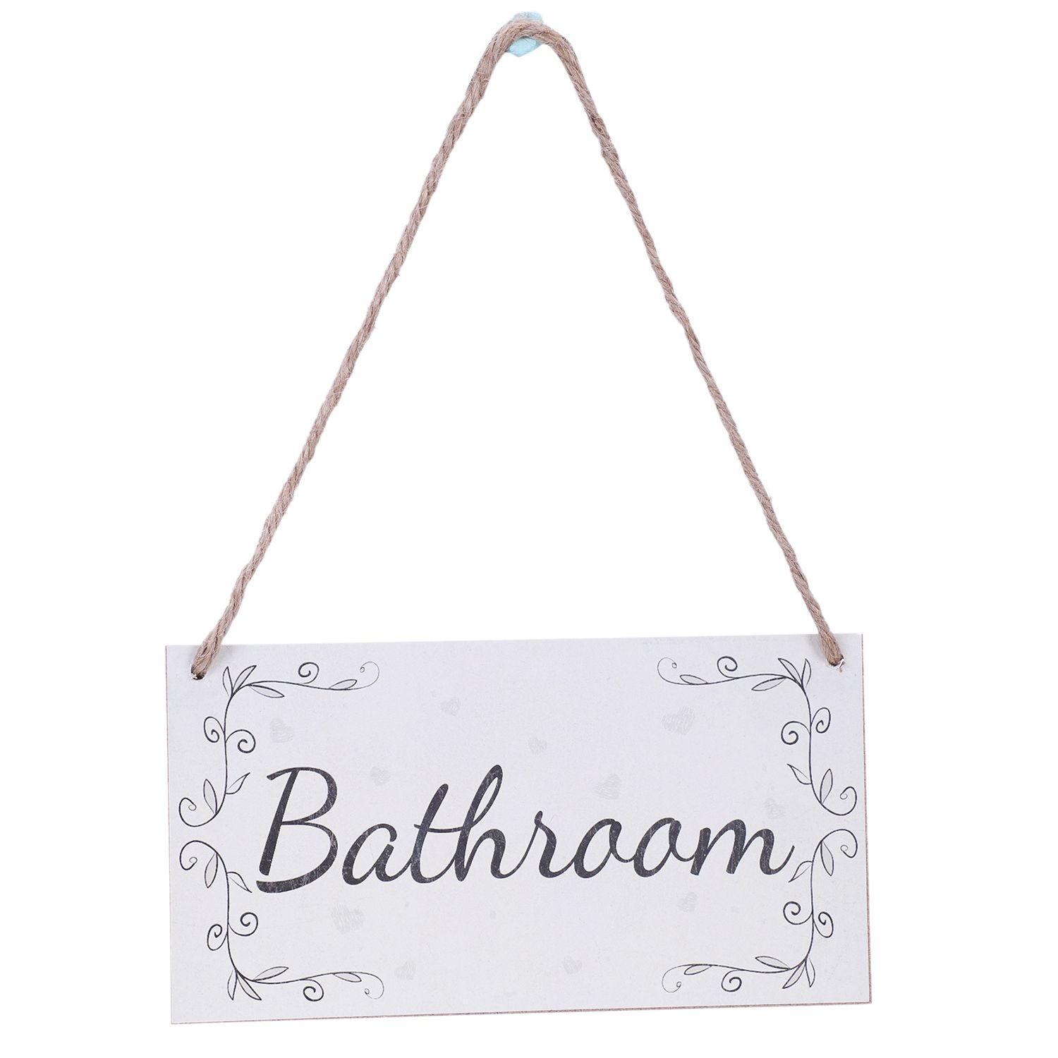 Bathroom Handmade French Shabby Chic Style Wooden Home Decor Door Sign Plaque image