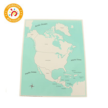 Baby Toy Montessori Knowledge of the world labeled World Parts Control Map Every Continent Geography Early Education