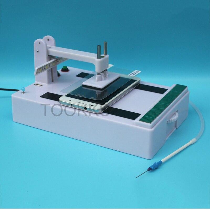 Machine de stratification de Film d'acier de verre trempé plastifieuse automatique universelle de Film de protecteur d'écran en verre pour l'atelier de réparation de téléphone