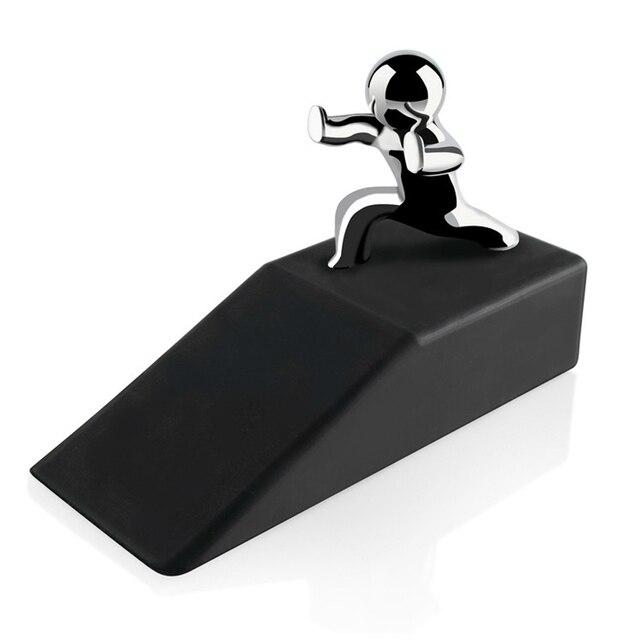 Цинковый сплав маленьких и человек с нескользящей резиновой основы стоп двери безопасный предотвращения столкновений дверь Фиксаторы noveltydesign декоративные