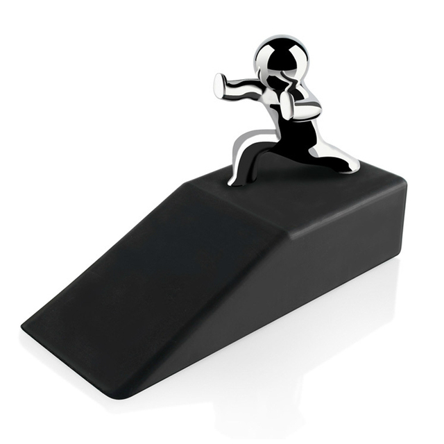 Zinc Alloy Little and Man with Non slip Rubber Bases Door Stop ...