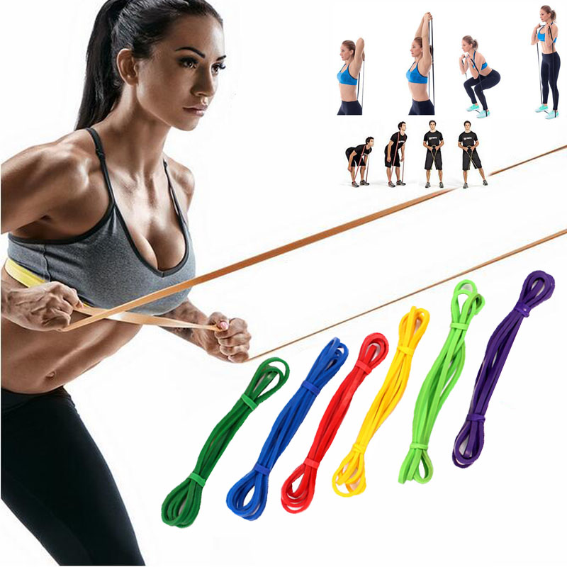 Fitness Rubber Bands Resistance Band Unisex Yoga Gym Athletic Elastic Pull Rubber Bands Loop Expander Exercise Sports Equipment