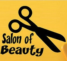 Hair Salon Vinyl Wall Decal Hair Style Scissors Haircut Salon Of Beauty Lettering Words Quoted Wall Sticker Hair SalonDecoration