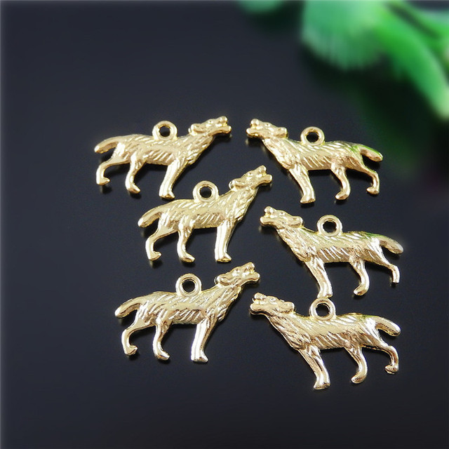Wholesale 10pcs creative howl wolf style jewelry pendants charms wholesale 10pcs creative howl wolf style jewelry pendants charms finding gold alloy jewelry necklace accessary 21 aloadofball Images