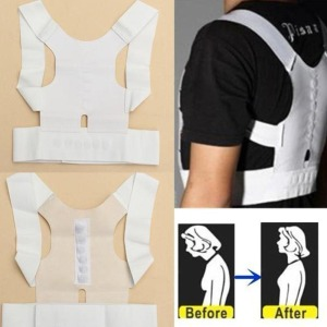 Adjustable White Black Back Po
