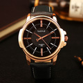 YAZOLE Brand 358 Mens PU Leather Strap Big Dial Quartz Watch Elegant Business Roman Number Luxury Wristwatches 2017 New
