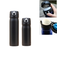 Black Bycicle Water Bottle Bike Sports Stainless Steel Outdoor Sport Water Bottle 500ml Vacuum Flask