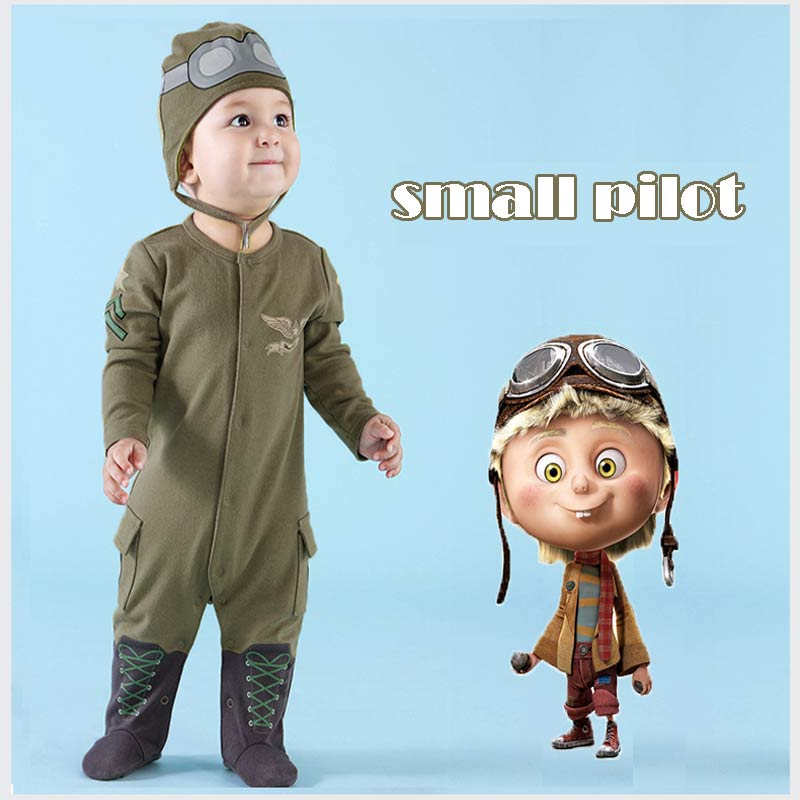 New Girl Boy Newborn Clothes Romper Long Sleeve Jumpsuits Infant Product Baby Rompers Leotard Pilots Army Green Hooded Romper new arrival newborn baby boy clothes long sleeve baby boys girl romper cotton infant baby rompers jumpsuits baby clothing set