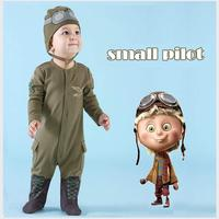 New Girl Boy Newborn Clothes Romper Long Sleeve Jumpsuits Infant Product Baby Rompers Leotard Pilots Army