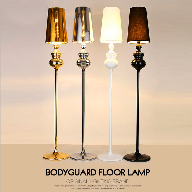 Us 128 5 Nordic Simple Spanish Guardian Gold Black And White Silver Gourd Floor Lamp For Bedroom Living Room Study Aisle Hotel Room Cafe In Floor