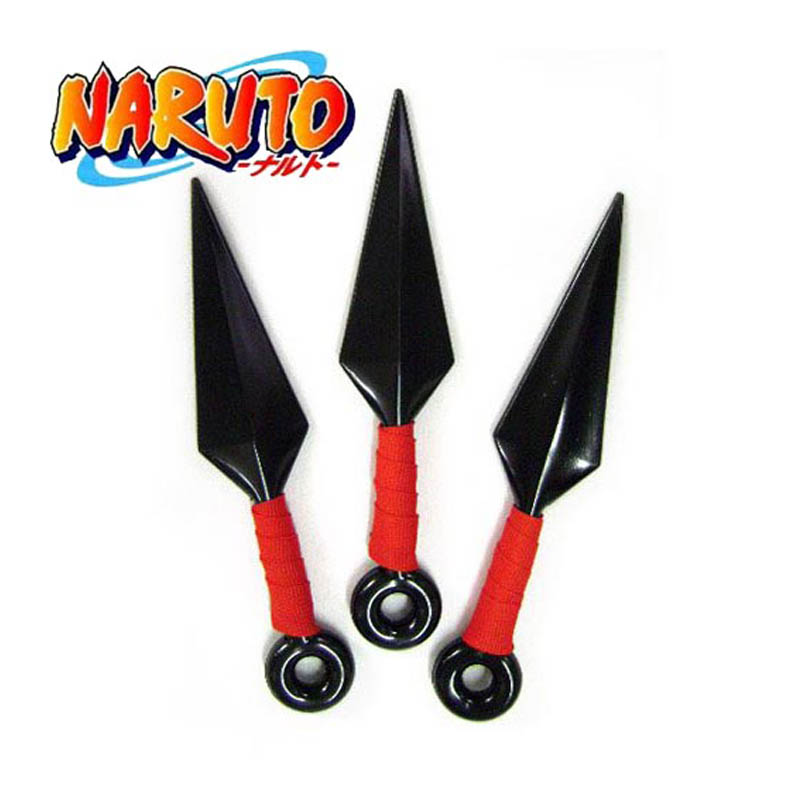 Anime Naruto 3pcs Ninja Uzumaki Kunai Shuriken Throwing Weapon Cosplay Costume Accessory Prop