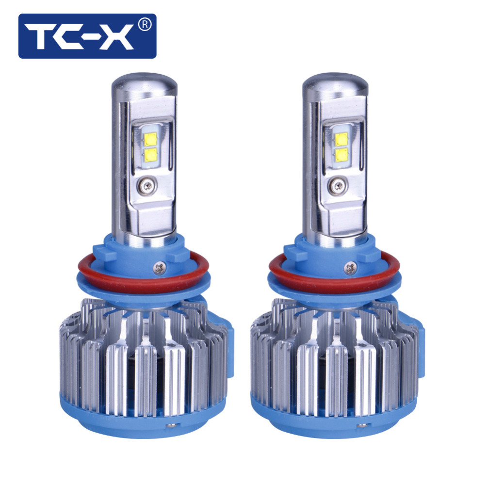 TC X LED 2017 Car Headlights Kit H7 H8 H11 H1 HB3 9005 HB4 9006 H3 880 35W 7000lm Auto Front Headlamp 6000K Car Styling Lighting