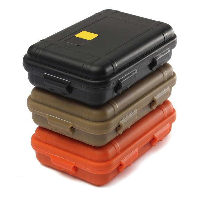 1Pc Safety Camping Outdoor Travel Storage Box L/S Size Outdoor Plastic  Waterproof Airtight Survival