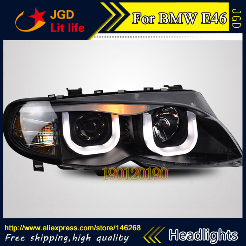 high quality ! HID LED headlights headlamps HID Hernia lamp accessory products case for BMW E46 2001-2004 Car styling high quality 1pair bumper driving fog light lamp lens for bmw e39 5 series 525i 530i 540i 4door 2001 2002 2003 car accessory q35