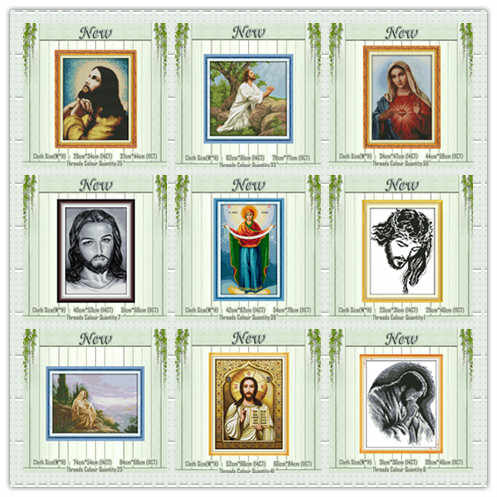 Praying Jesus Goddess Christ religious painting counted print on canvas DMC 11CT 14CT Cross Stitch kit embroidery needlework set