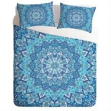 Cammitever boêmio lótus conjunto de cama eua rei rainha capa edredon lotus indiano conjunto 3pcs roupas