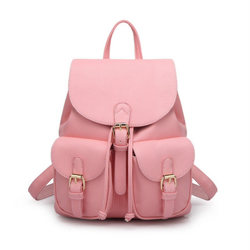 pink leather backpack travel bag student PU backpack for teens mochila escolar shoulder school bags for teenage girls bookbag hot sale 2017 new arrival bag mochila escolar backpack anime kawaii backpack mochila for teenage girls korean school bags