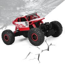 Coche Del RC 2.4G 4CH 4WD Rastreadores de Rock 4×4 de Conducción de Coches de Doble motores de Accionamiento Bigfoot Modelo de Vehículo Off-Road Coche de Control Remoto de Coches de Juguete