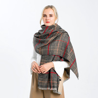 Plaid Poncho Coat Cashmere Cape Womens Ponchos Pattern Plaid Casual Wool Poncho Cape Winter Cape Open Stitch Womens Shawl Coat