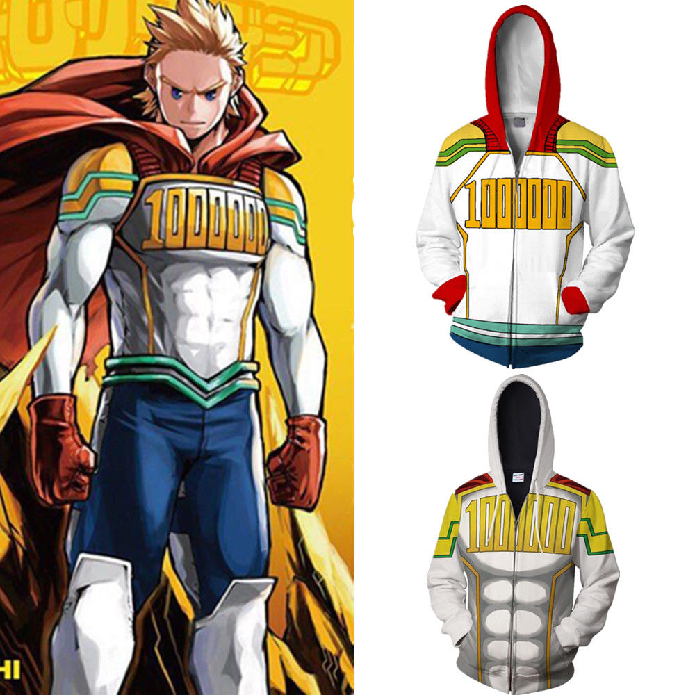 My Hero Academia Boku No Hero Costume <font><b>Mirio</b></font> Togata <font><b>Cosplay</b></font> Hoodie Jacket Coat Halloween Unisex Adult image