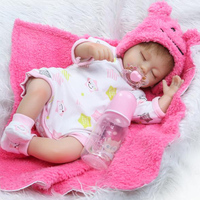 Silicone Reborn Dolls Toys for Girls real Alive baby Doll pink star clothing set bebes reborn menina de silicone