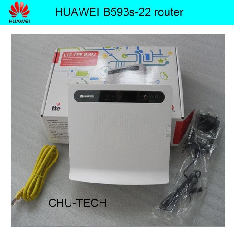 Prix pour D'origine HUAWEI B593 B593s-22 4G LTE 150 Mbps CPE Routeur + 4G antenne