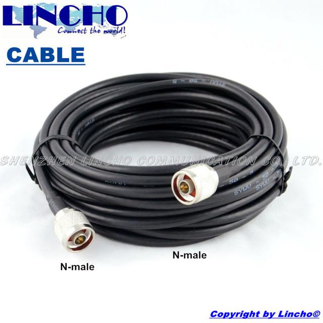 10 Metros 2 N Macho SYWV-50-5 5d-fb cable coaxial, repetidor de señal de cable de extensión de la antena al aire libre