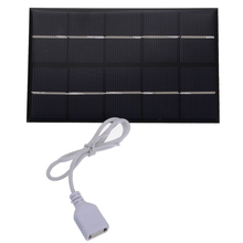 5W 5V Portable USB Output Solar Panel Charger Pane USB Port Mobile Phone Travel Outdoor Solar Panel