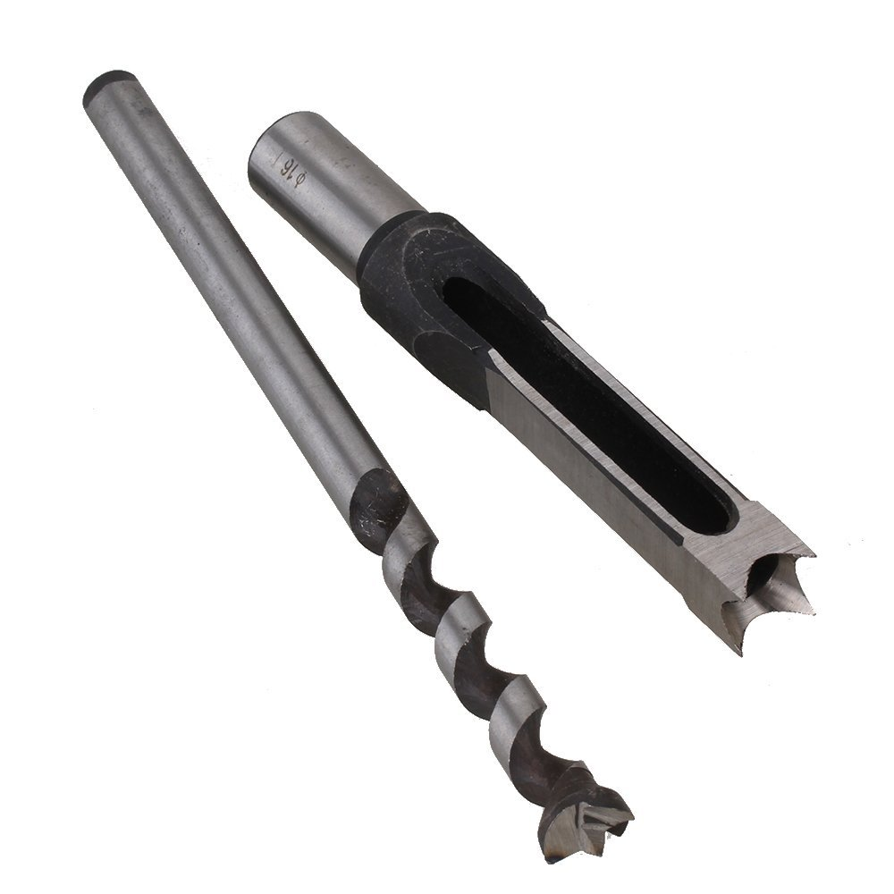 16mm HSS Mortising Twist Drill Bit Woodworking Tools Chisel Cutter Square Holes Saw цена и фото