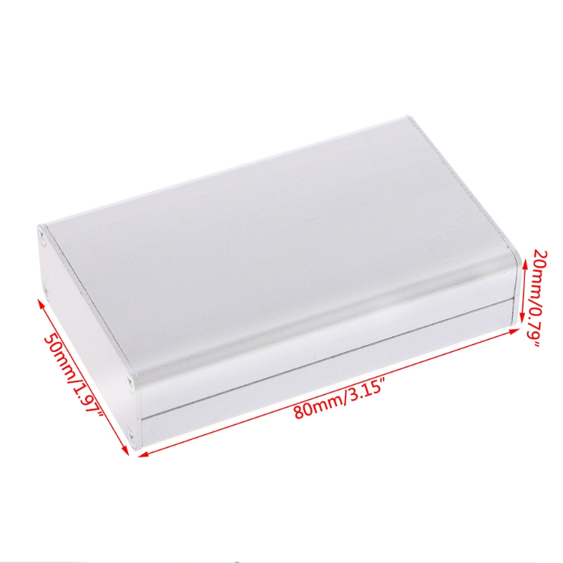 OOTDTY Lightweight and Durable Aluminum Project Box Enclosure Case Electronic DIY Instrument Case 80x50x20mm black extruded aluminum enclosure box pcb instrument box diy electronic project case 80x50x20mm