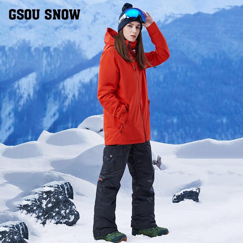 2017 new girls ski suit female suits long pure warm and windproof waterproof ski suit female ski suit ski go мазь держания ski go lf