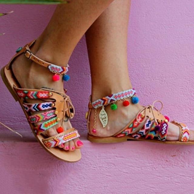 Ethnic Bohemian Women Sandals
