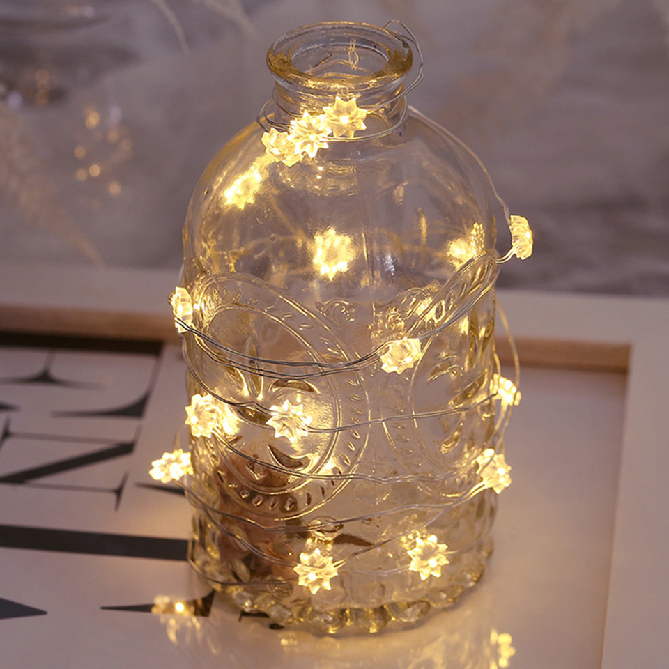 Xsky 30leds String Light Battery Operated Holiday Fairy Lights Garland Christmas Wedding Party Decor Rabbit Star Heart Cactus