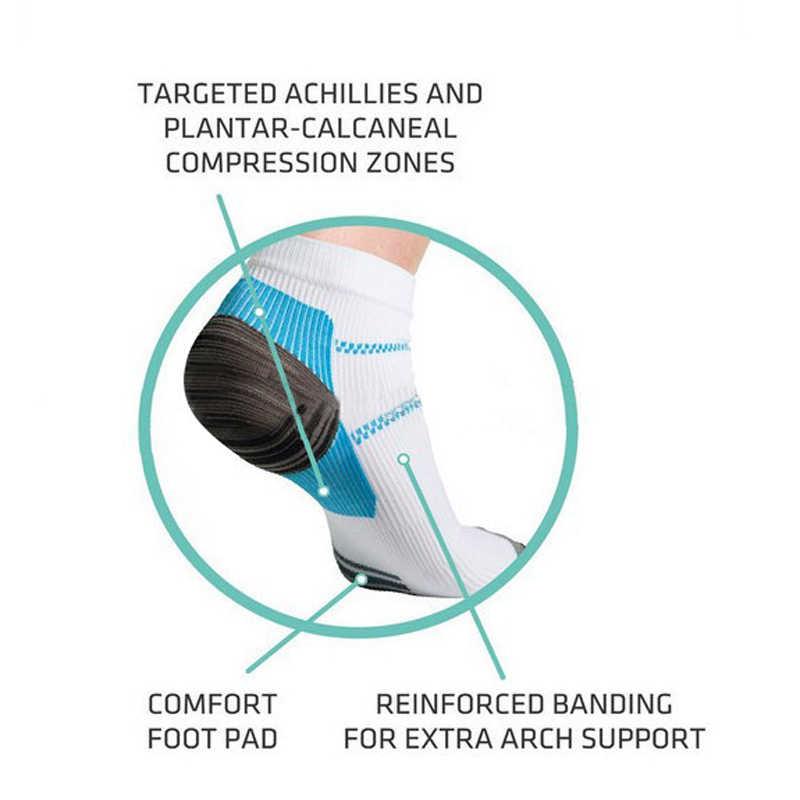 2 unids/par mujeres hombres cuidado de los pies compresión calcetín talón espuras dolor Deporte Calcetines buena calidad