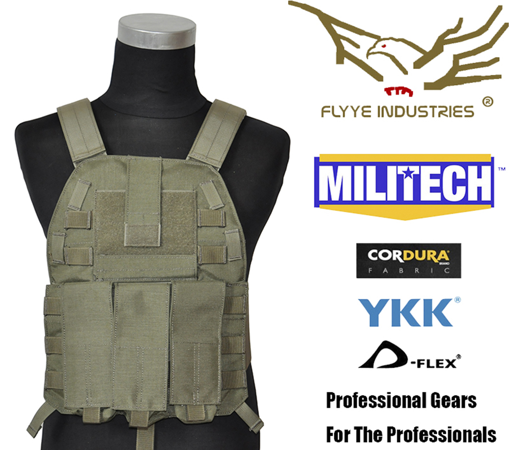 лучшая цена MILITECH FLYYE Military LT6094K Ranger Green RG Plate Carrier Combat Molle Tactical Vest Army Military Combat Vests Tac Carrier