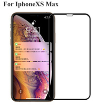 Black Full Cover Tempered Glass For Iphone XS Max XSMax Screen Protector Toughened Film For Iphone X S Max IphoneXS Max