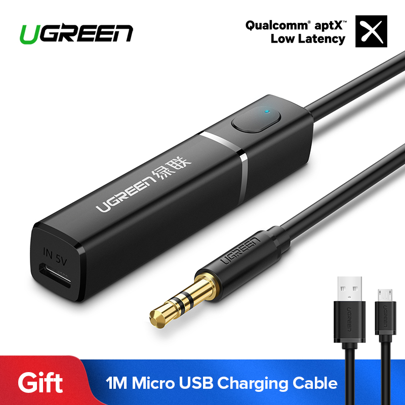 Ugreen Bluetooth APTX Transmissor 4.2 para TV Fones De Ouvido PC 3.5 milímetros Aux Adaptador Bluetooth Transmissor Bluetooth Música De Áudio Óptico