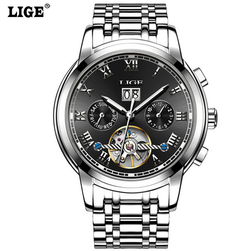 Watch Mens Business Tourbillon Automatic mechanical Watches Casual Fashion Men Skeleton Clock Top Brand Luxury Male wristwatch top luxury brand new arrival men business casual fashion watches big dial genuine leather skeleton automatic mechanical watch